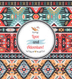 Seamless bright pattern in tribal style Stock Photo