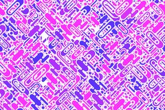 Seamless bright pink forms and shapes plating wrapping pattern Royalty Free Stock Photos