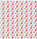 Seamless Bright Spring Summer Butterfly Pattern Stock Photography