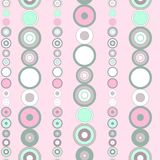 Seamless bright striped pattern. With blue and pink colored concentric circles in the form of beads Vector Illustration