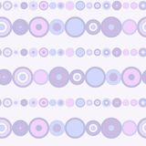 Seamless bright striped pattern. With purple colored concentric circles in the form of beads Vector Illustration
