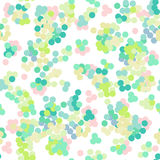 Seamless bright summer pattern with confetti. On white Stock Photos