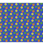 Seamless bright summer pattern with flowers isolated on blue Royalty Free Stock Images
