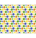Seamless bright summer pattern with flowers isolated on white Stock Photos