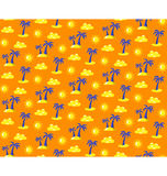 Seamless bright summer pattern with palms and suns  on o Royalty Free Stock Images