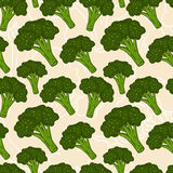 Seamless  broccoli background Royalty Free Stock Photography