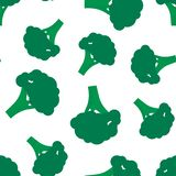 Seamless  broccoli pattern. Background for design vector illustration