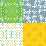 Seamless Broken Circle Patterns Stock Image
