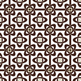 Seamless brown abstract pattern geometric texture white backgrou Stock Images