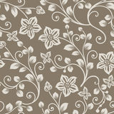 Seamless brown and beige flower background Royalty Free Stock Photo