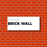 Seamless brown brick wall background Royalty Free Stock Images