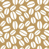 Seamless Brown Coffee Beans Background Stock Photo