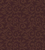 Seamless brown damask wallpaper Stock Images