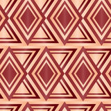 Seamless Brown Diamond Geometric Abstract Background Stock Photo