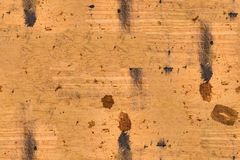 Seamless brown dirty burned wood background Royalty Free Stock Image