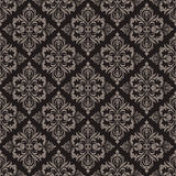 Seamless brown floral pattern. Royalty Free Stock Images