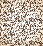 Seamless brown floral background Stock Photo