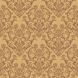 Seamless brown floral wallpaper Stock Illustration