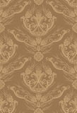 Seamless brown floral wallpaper Royalty Free Stock Images