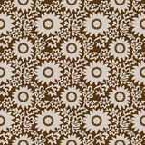 Seamless brown floral wallpaper Stock Images