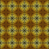 Seamless brown and gold pattern with abstract ornamental motifs Royalty Free Stock Image