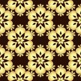 Seamless brown-gold Vintage Pattern Stock Image