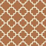 Seamless brown islamic mesh background Royalty Free Stock Photography