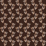 Seamless brown lace pattern Royalty Free Stock Images