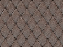 Seamless brown leather upholstery pattern, 3d illustration.  Stock Photo