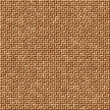 Seamless brown mosaic floor tiling pattern Royalty Free Stock Photos