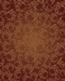 Seamless brown wallpaper pattern Stock Image