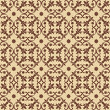 Seamless brown Pattern on beige Background Stock Images