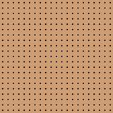 Seamless brown peg board texture pattern. Background vector illustration