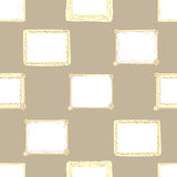 Seamless brown photoframes. Seamless texture with a brown vector photoframe Stock Images