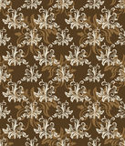 Seamless brown retro pattern. Royalty Free Stock Photography