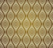 Seamless Brown Retro Pattern Background Stock Photography