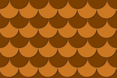 Seamless Brown Squama Background Royalty Free Stock Photo