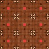 Seamless Brown Textile Pattern. A completely seamless abstract tile able paper pattern royalty free stock photo