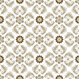 Seamless brown-white vintage pattern Stock Photos