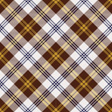 Seamless brown and yellow Scotland check pattern background. Royalty Free Stock Photo