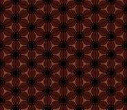 seamless brun blom- modell Vektorbakgrund, textur av kaffebönor Arkivbilder