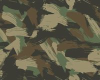 Seamless Brush Camouflage. Here you got a seamless vector brushstroke camouflage pattern ready for use stock illustration