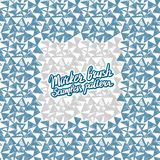 Seamless brush hand drawn doodle pattern. Vector background Stock Images