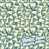 Seamless brush hand drawn doodle pattern. Vector background Royalty Free Stock Photography
