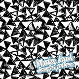 Seamless brush hand drawn doodle pattern. Vector background Royalty Free Stock Images