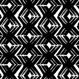 Seamless brush pen hand drawn doodle pattern. Vector background Stock Photos