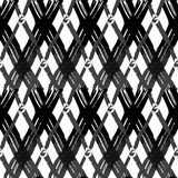 Seamless brush pen hand drawn doodle pattern. Vector background Royalty Free Stock Photography