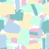 Seamless brush strokes pattern. Vector seamless grunge brush pattern in pastel colors, abstract trendy background Stock Photo