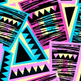 Seamless brushpen doodle pattern grunge texture.Trendy modern in. K artistic design with authentic and unique scrapes, watercolor blotted background for a logo royalty free illustration
