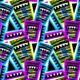 Seamless brushpen doodle pattern grunge texture.Trendy modern in. K artistic design with authentic and unique scrapes, watercolor blotted background for a logo stock illustration